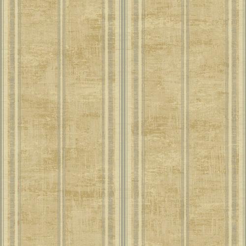 1730807 Seabrook Wallcovering Etten Gallerie Mercury Classic Faux Stripe Wallpaper Tan