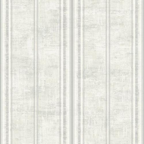 1730808 Seabrook Wallcovering Etten Gallerie Mercury Classic Faux Stripe Wallpaper Silver
