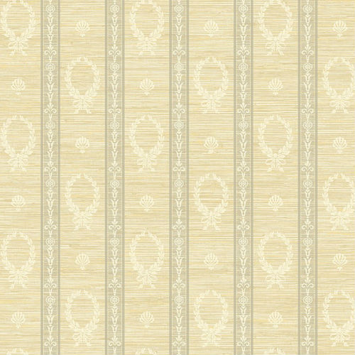 1730915 Seabrook Wallcovering Etten Gallerie Mercury Crest Stripe Wallpaper Neutral