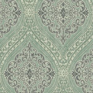 1731304 Seabrook Wallcovering Etten Gallerie Mercy Damask Wallpaper Green