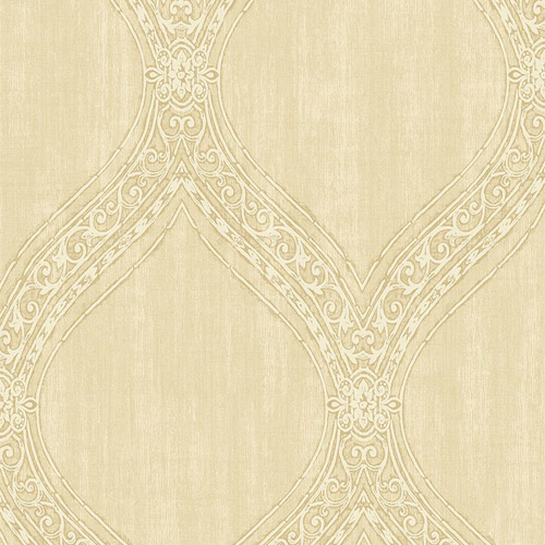 1732105 Seabrook Wallcovering Etten Gallerie Mercury Ogee Frame Wallpaper Tan