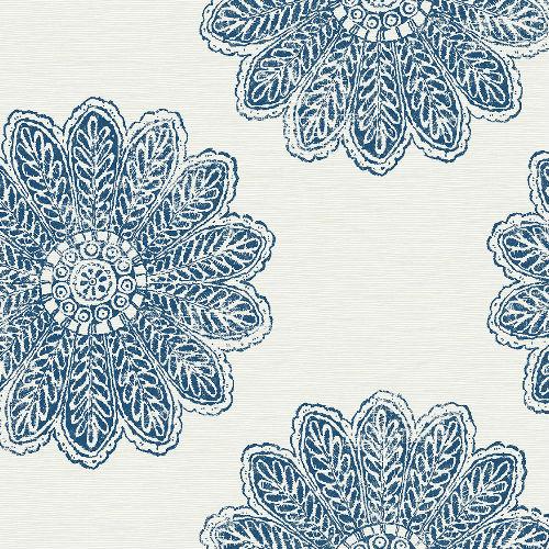 2793-24744 Sol Medallion Wallpaper Indigo