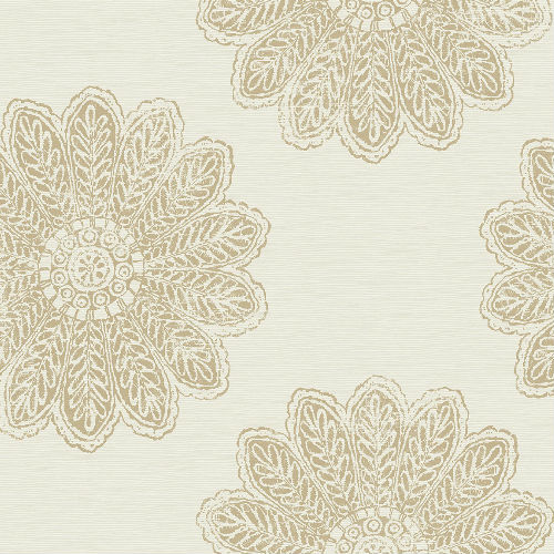 2793-24745 Sol Medallion Wallpaper Light Brown
