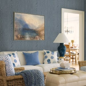 2767-003375 Brewster Wallcovering Techniques and Finishes 3 Remi Wood Wallpaper Room Setting