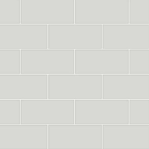 2767-23752 Brewster Wallcovering Techniques and Finishes 3 Galley Subway Tile Wallpaper Light Grey