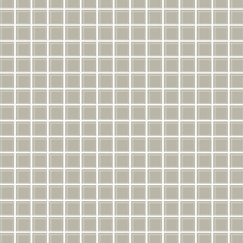 2767-23784 Brewster Wallcovering Techniques and Finishes 3 Tessellate Glass Tile Wallpaper Grey