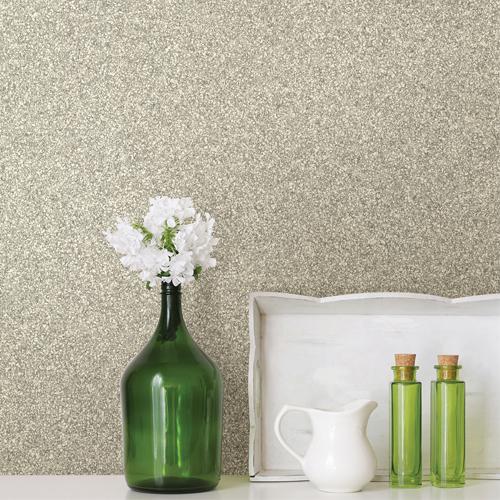 2774-606645 Brewster Wallcovering Advantage Stones and Woods Klamath Asphalt Wallpaper Room Setting