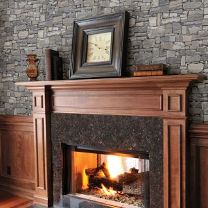 2774-859102 Brewster Wallcovering Advantage Stones and Woods Wrangell Stacked Slate Wallpaper Room Setting