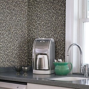 2774-899603 Brewster Wallcovering Advantage Stones and Woods Aleutain Pebbles Wallpaper Room Setting