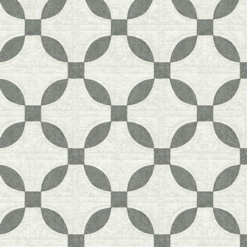 3115-12471 Brewster Wallcovering Chesapeake Farmhouse Justice Quilt Wallpaper Charcoal