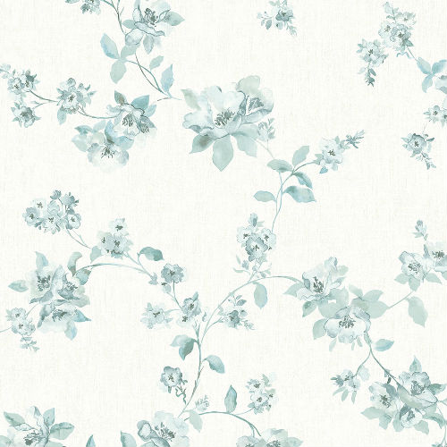3115-24480 Brewster Wallcovering Chespeake Farmhouse Cyrus Floral Wallpaper