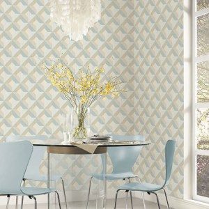 CK36618 Patton Wallcoverings Creative Kitchens Dimensional Diamond Inlay Wallpaper Room Setting