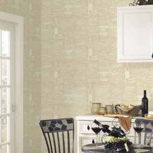 CK36632 Patton Wallcoverings Creative Kitchens Wine Days Wallpaper Room Setting