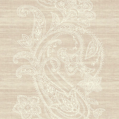 1620401 Seabrook Wallcovering Etten Gallerie Bruxelles Striped Paisley Wallpaper Blush Pink