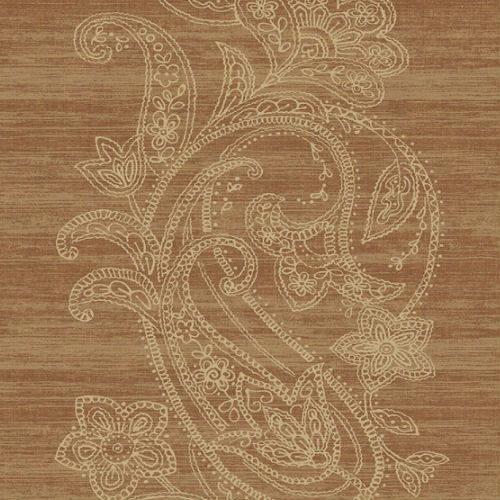 1620406 Seabrook Wallcovering Etten Gallerie Bruxelles Striped Paisley Wallpaper Rust