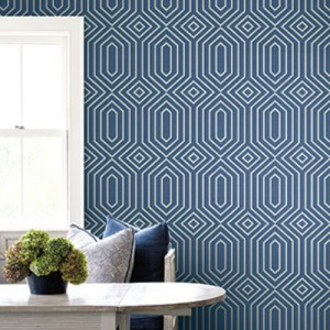 1620602 Seabrook Wallcovering Etten Gallerie Bruxelles, Geometric Diamond Wallpaper Room Setting