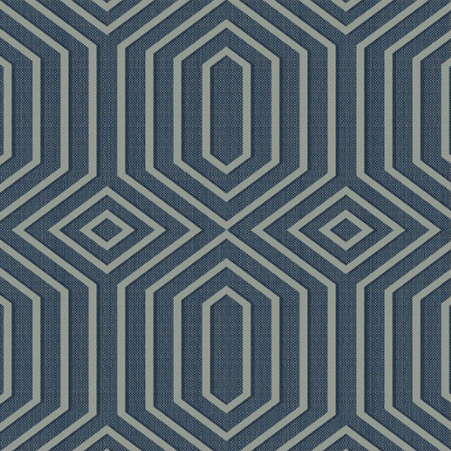 1620602 Seabrook Wallcovering Etten Gallerie Bruxelles, Geometric Diamond Wallpaper Navy Blue