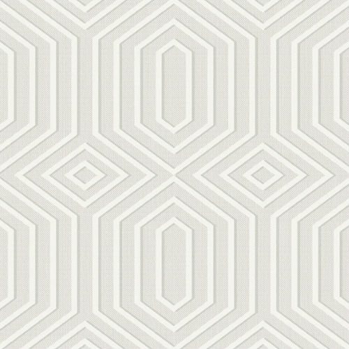1620605 Seabrook Wallcovering Etten Gallerie Bruxelles, Geometric Diamond Wallpaper White