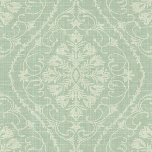 1620904 Seabrook Wallcovering Etten Gallerie Bruxelles Ogee Damask Wallpaper Mint Green