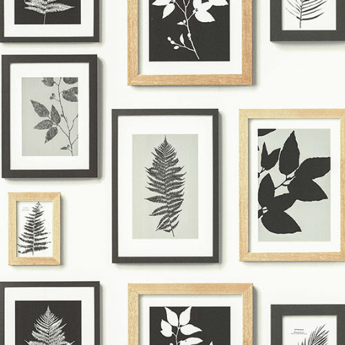 2773-937503 Brewster Wallcovering Advantage Neutral Black White Rumer Gallery Wallpaper