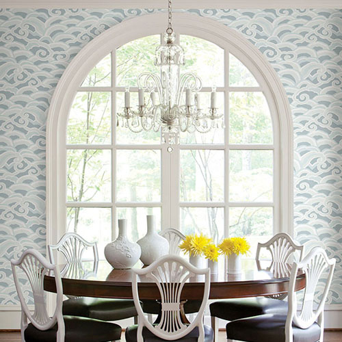 2785-24841 Brewster Wallcovering A Street Prints Sarah Richardson Signature Decowave Wallpaper Room Setting