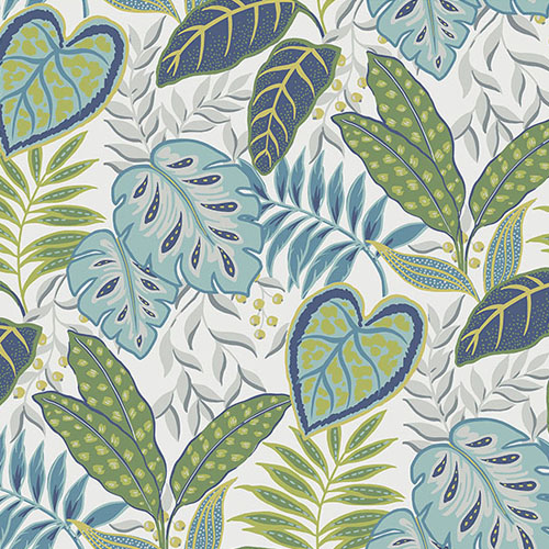 2785-87425 Brewster Wallcovering A Street Prints Sarah Richardson Signature Jasmine Botanical Wallpaper Aegean
