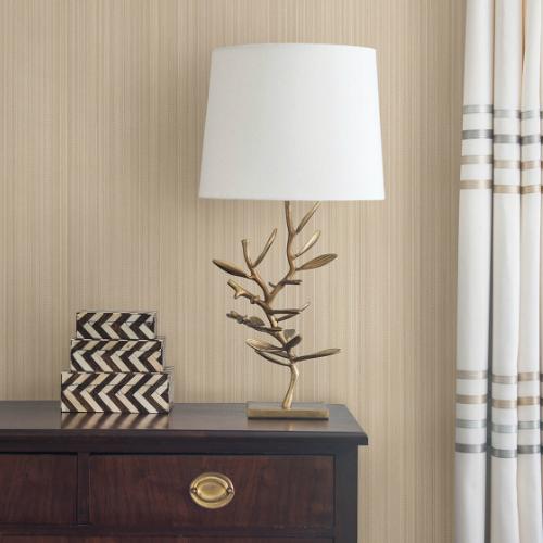 2799-02484-20 Brewster Wallcovering Advantage Texture Basics Tatum Fabric Texture Wallpaper Room Setting