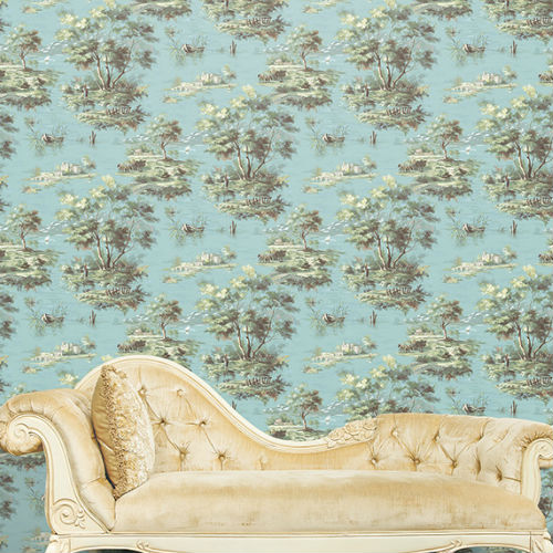 Lakeside Toile Wallpaper By Patton Wallcoverings Lelands