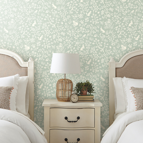 Fox and Hare Wallpaper by Joanna Gaines  Lelands Wallpaper