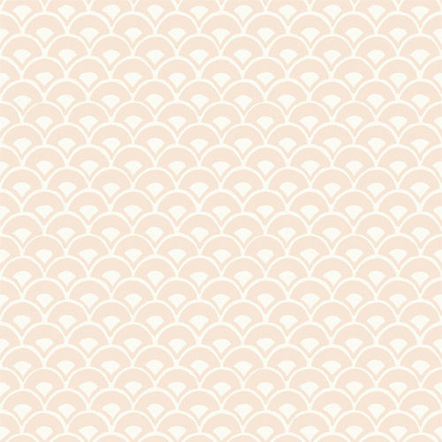MK1153 York Wallcoverings Joanna Gaines Magnolia Home 3 Artful Prints and Patterns Stacked Scallops Wallpaper Beige