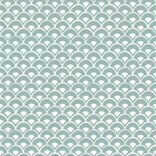 Mk1157 York Wallcoverings Joanna Gaines Magnolia Home 3 Artful Prints and Patterns Stacked Scallops Wallpaper Turquoise