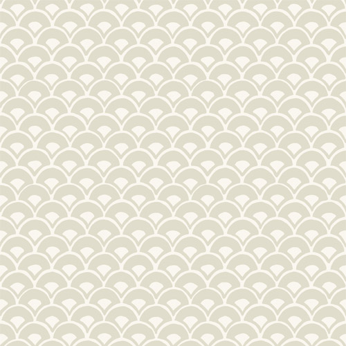 MK1158 York Wallcoverings Joanna Gaines Magnolia Home 3 Artful Prints and Patterns Stacked Scallops Wallpaper Grey