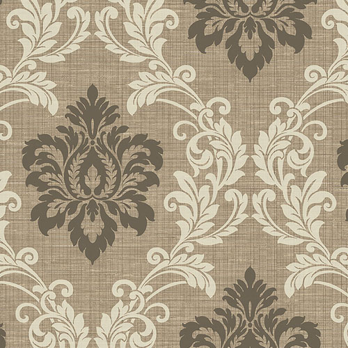 2765-BW40101 Brewster Wallcovering Kenneth James Geo Tex Adela Twill Damask Wallpaper Light Brown