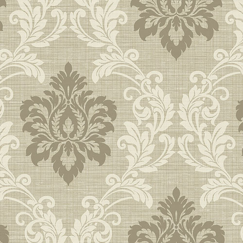 2765-BW40105 Brewster Wallcovering Kenneth James Geo Tex Adela Twill Damask Wallpaper Neutral
