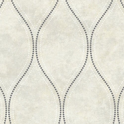 2765-BW40205 Brewster Wallcovering Kenneth James Geo Tex Eira Marble Ogee Wallpaper Ivory