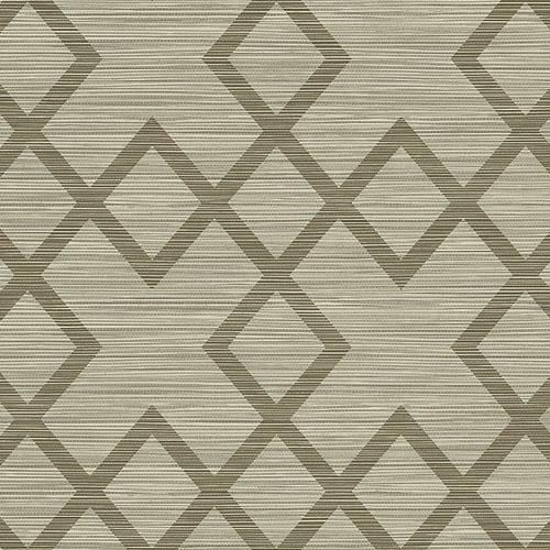 2765-BW4046 Brewster Wallcovering Kenneth James Geo Tex Vana Woven Diamond Wallpaper Brown