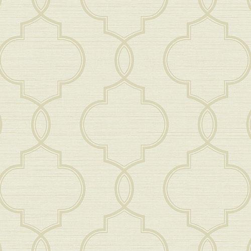 2765-BW40505 Brewster Wallcovering Kenneth James Geo Tex Malo Sisal Ogee Wallpaper Cream