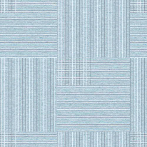 2809-IH18406A Brewster Wallcovering Advantage Geo Ronald Squares Wallpaper Blue