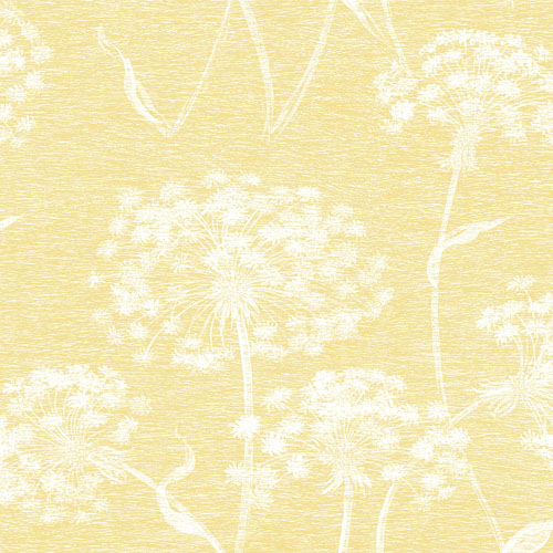 2811-24574 Brewster Wallcovering Advantage Nature Carolyn Dandelion Wallpaper Yellow