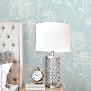 2811-24576 Brewster Wallcovering Advantage Nature Carolyn Dandelion Wallpaper Room Setting