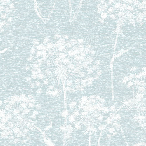 2811-24576 Brewster Wallcovering Advantage Nature Carolyn Dandelion Wallpaper Light Blue