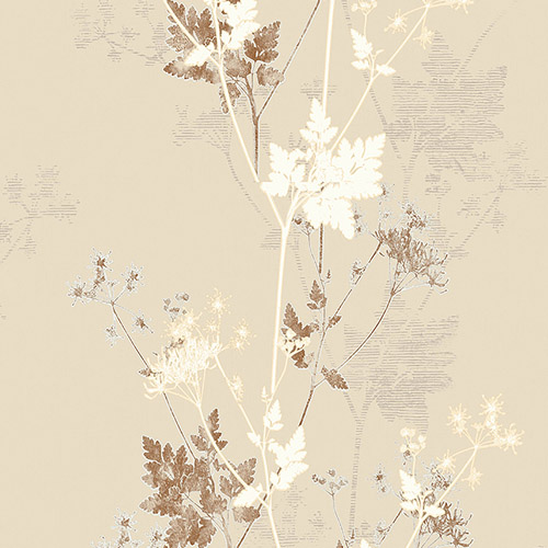 2811-JY11302 Brewster Wallcovering Advantage Nature Tara Sprig Wallpaper Cream