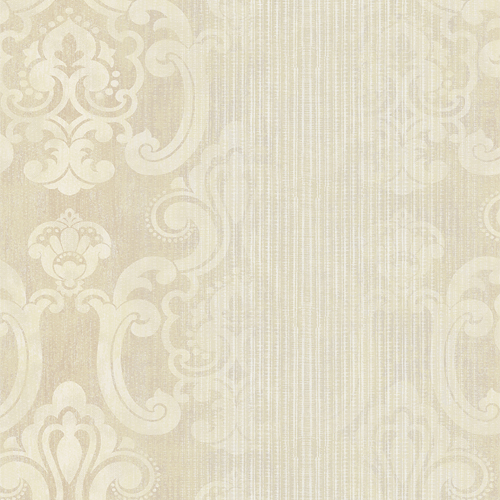 2810-SH01041 Brewster Wallcovering Advantage Tradition Ariana Striped Damask Wallpaper Gold