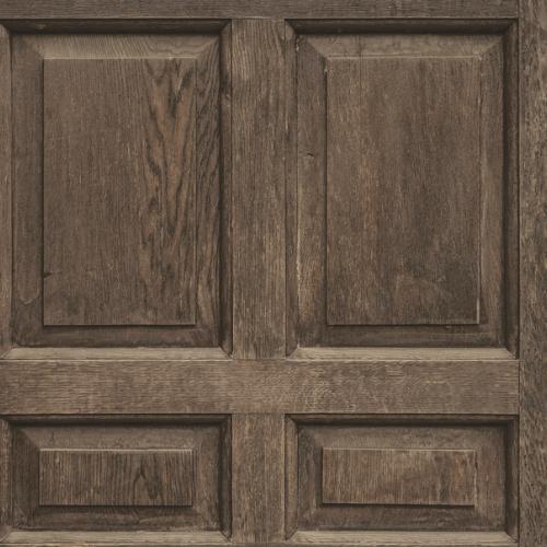 DI4747 York Wallcovering Dimensional Artisty Front Door Wallpaper Dark Brown