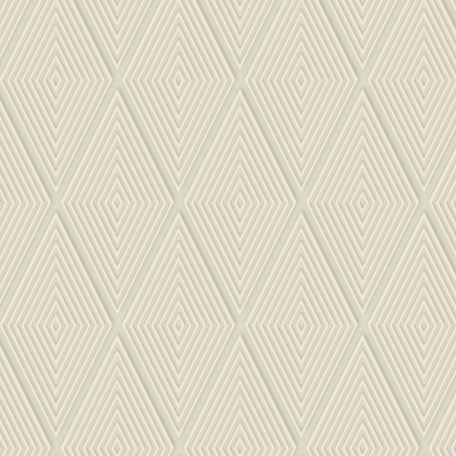 DI4761 York Wallcovering Dimensional Artistry Conduit Diamond Wallpaper Beige