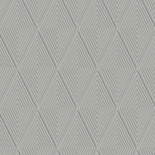 DI4763 York Wallcovering Dimensional Artistry Conduit Diamond Wallpaper Grey