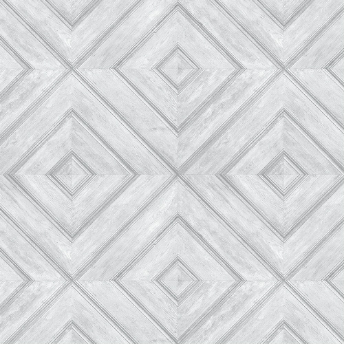 FH37513 Patton Wallcovering Norwall Farmhouse Living Wood Tile Wallpaper Light Grey