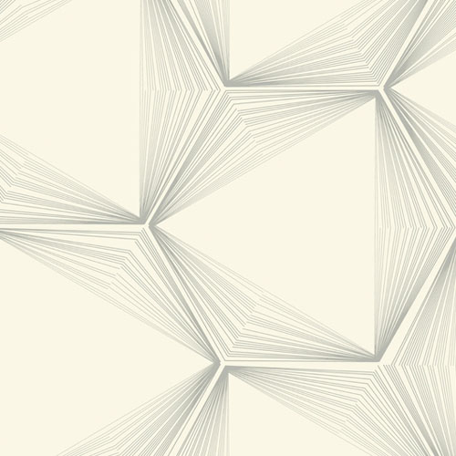OL2718 York Wallcovering Candice Olson Journey Honeycomb Wallpaper Silver
