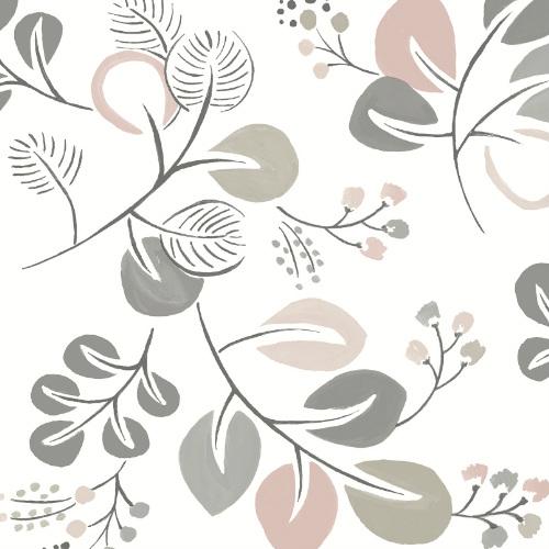 2821-25125 Brewster Wallcovering A Street Prints Folklore Jona Trail Wallpaper Light Pink