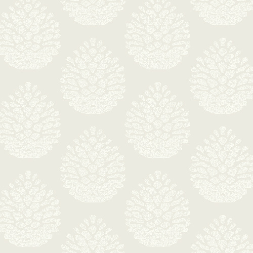 3118-25090 Brewster Wallcovering Birch and Sparrow Totem Pinecone Wallpaper Eggshell